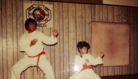 Me and my Dad training Kung fu